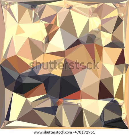 Low polygon style illustration of a bisque gray abstract geometric background.