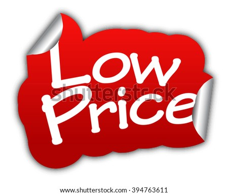 low price, red vector low price, red sticker low price, paper sticker low price, element low price, sign low price design low price, picture low price, illustration low price, low price eps10 - stock vector