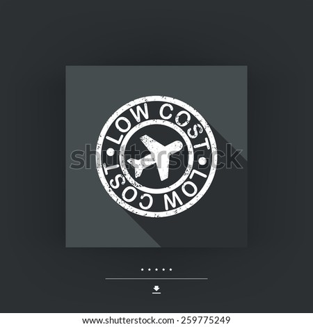 Lowcost airline icon - stock vector