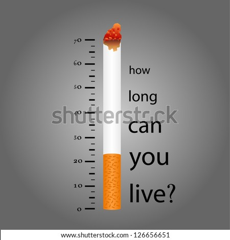 Lower levels of life on Cigarette Smoking.eps10 - stock vector