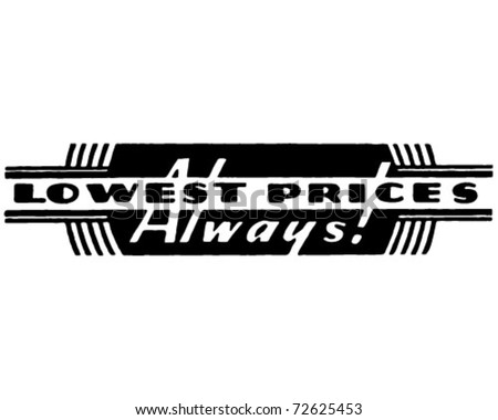 Lowest Prices - Retro Ad Art Banner