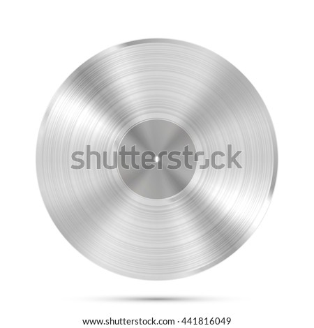 LP platinum Record icon, Gramophone music object, Vinyl disk record, Vector illustration - stock vector
