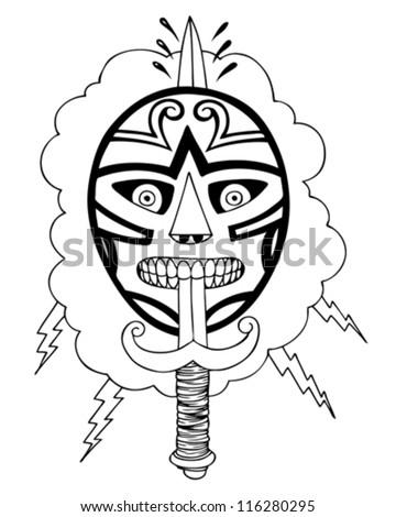 Lucha knife image - stock vector