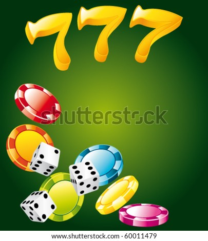 Lucky casino elements. Vector background. - stock vector