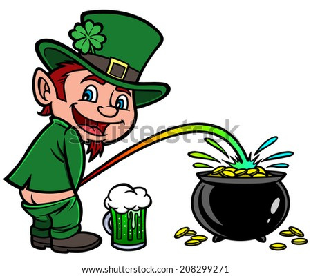 Lucky Leprechaun - stock vector