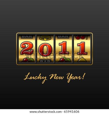 Lucky New Year! - stock vector