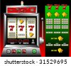 lucky seven slot machine vector illustration - stock photo