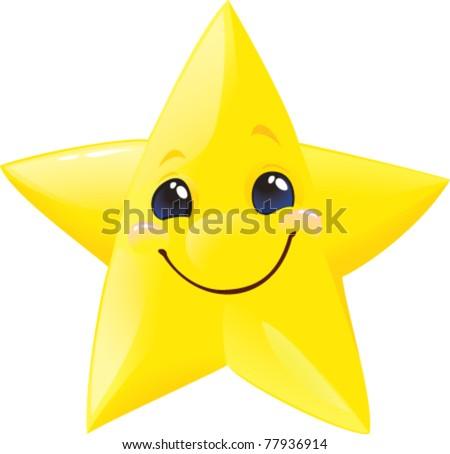Lucky star. - stock vector