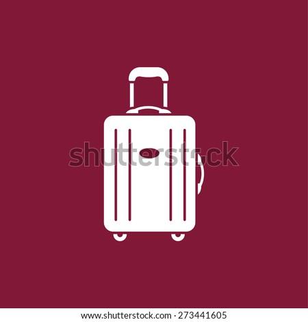 luggage icon - stock vector