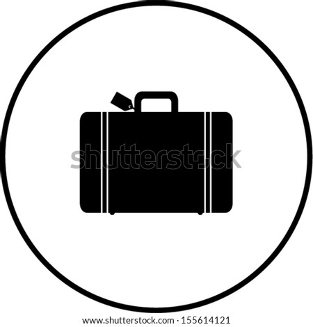 luggage symbol - stock vector