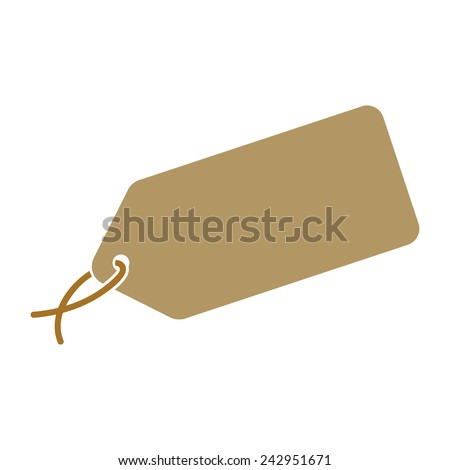 Luggage tag, vector illustration - stock vector