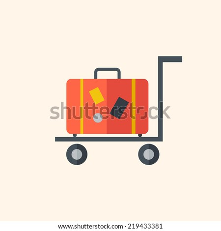 Luggage. Travel Flat Icon - stock vector