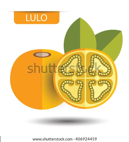 Lulo, fruit vector illustration - stock vector