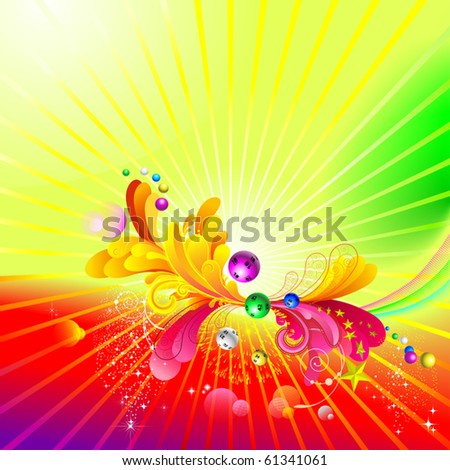 Luminous background. - stock vector