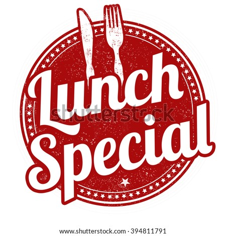 Lunch special grunge rubber stamp on white background, vector illustration - stock vector