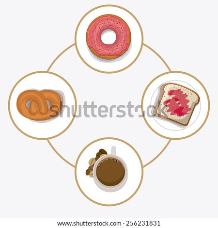 lunch time design over, white background, vector illustration. - stock vector
