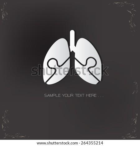 lung designvector logo design template stock vector 264355214, Powerpoint templates
