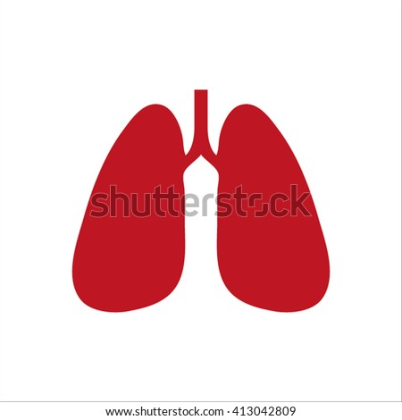 Lungs - vector icon