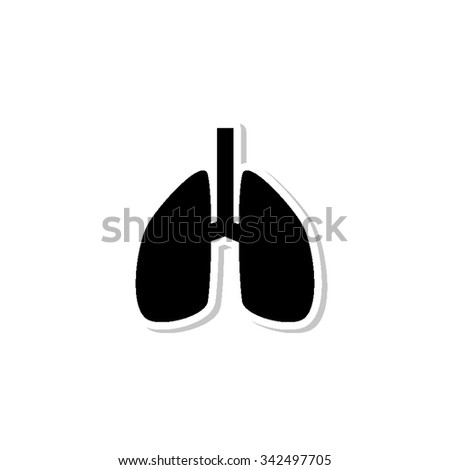 Lungs - vector icon with shadow