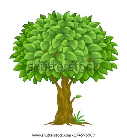 Lush tree - stock vector