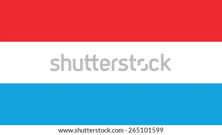 luxembourg Flag for Independence Day and infographic Vector illustration. - stock vector