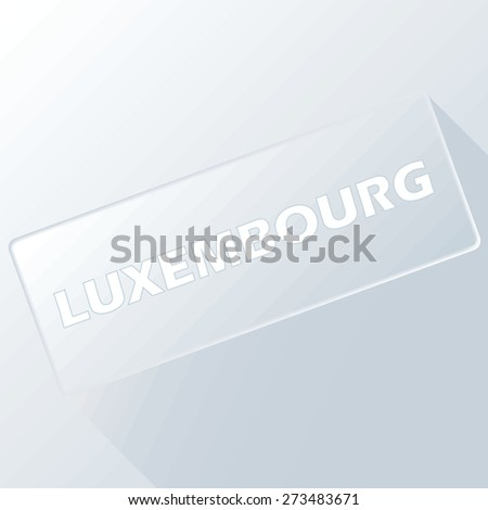 Luxembourg unique button for any design. Vector illustration