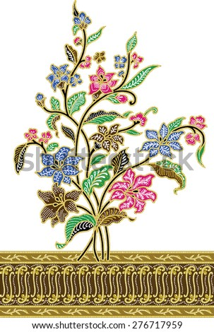 luxurious background.vector designs of tree of flowers.