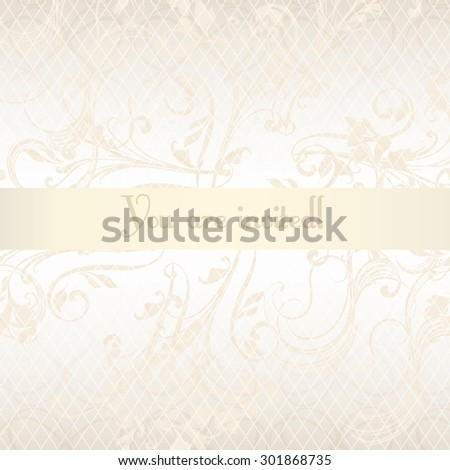 Luxurious wedding invitation soft and tender colors - stock vector