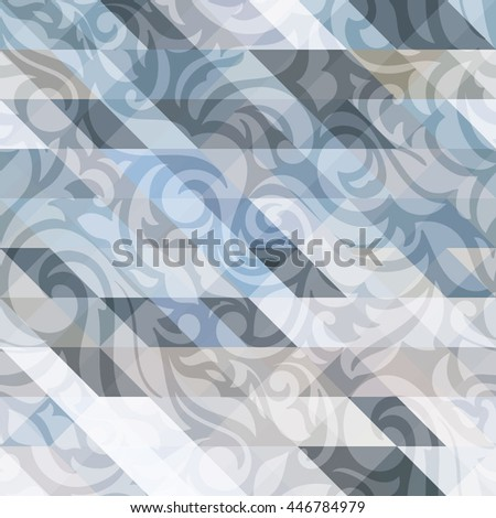 Luxury abstract  transparent floral wallpaper,  with triangle textured design: pastel palette