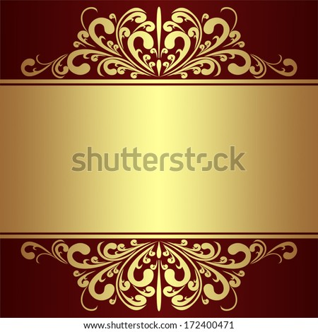 Luxury Background with golden royal Borders. - stock vector