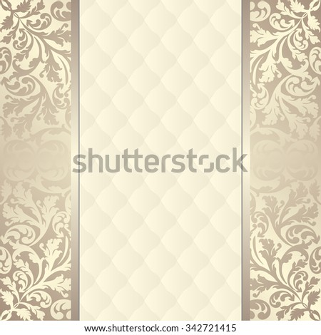 luxury background with ornaments - stock vector