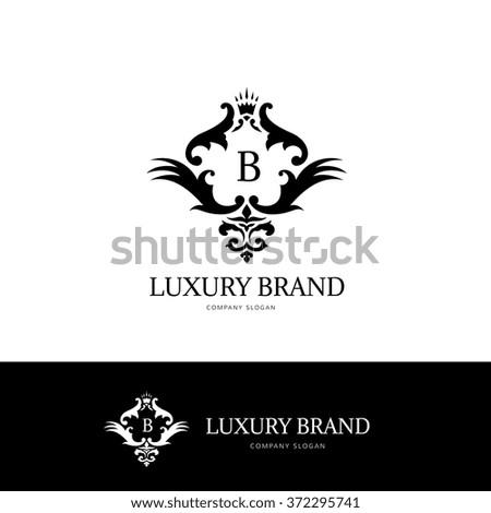 Luxury Brand Logo Designcrest Logohotel Logovector Stock Vector