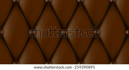 luxury brown leather upholstery seamless pattern - stock vector
