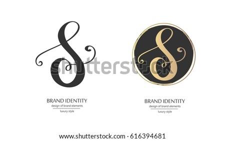 Luxury Calligraphic Letter S Monogram