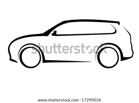 Luxury car silhouette