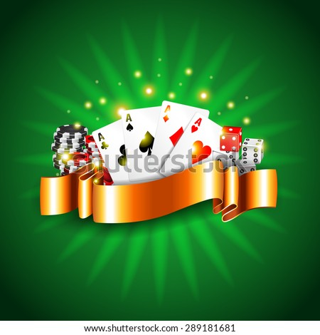 Luxury casino background with cards photo realistic vector