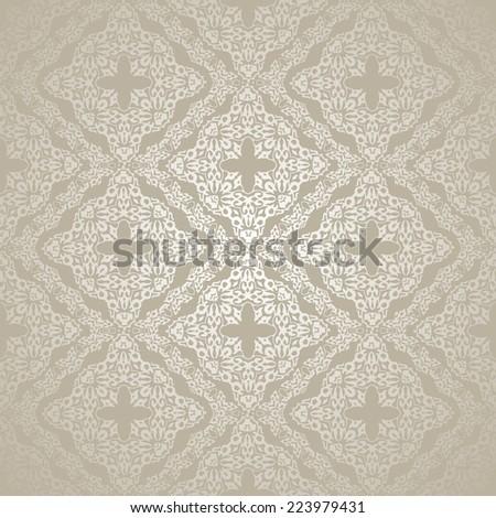 Luxury Damask seamless motif .Vintage victorian style pattern.Vector illustration - stock vector