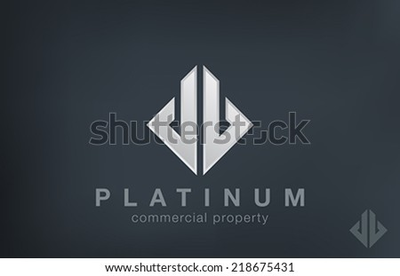 Luxury Fashion Logo design vector template. Financial Business Real Estate Logotype concept icon. - stock vector