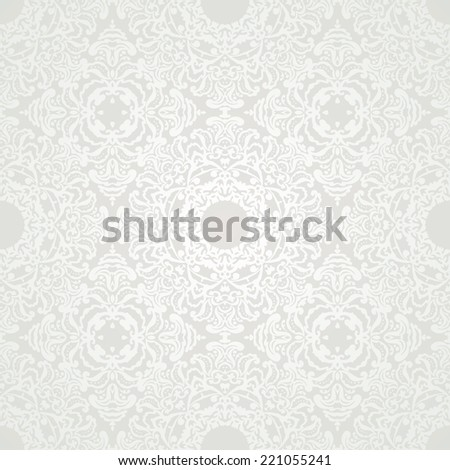 Luxury floral damask wallpaper. Seamless pattern background. Vector illustration - stock vector