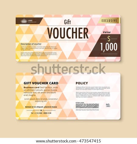 Luxury Gift Voucher Template Promotion Card Vector 336956981 – Voucher Card Template