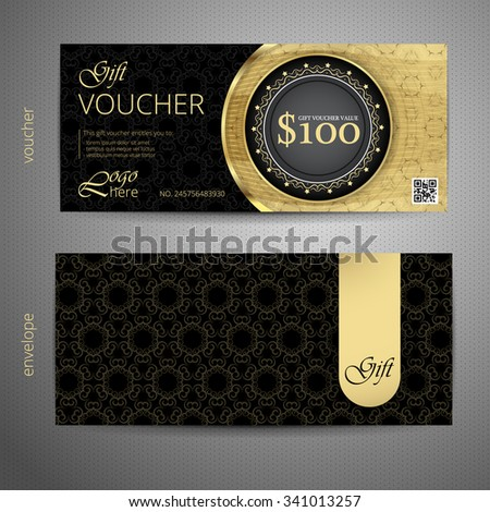 Luxury Gift Voucher Template VIP Premium Stock-Vektorgrafik ...