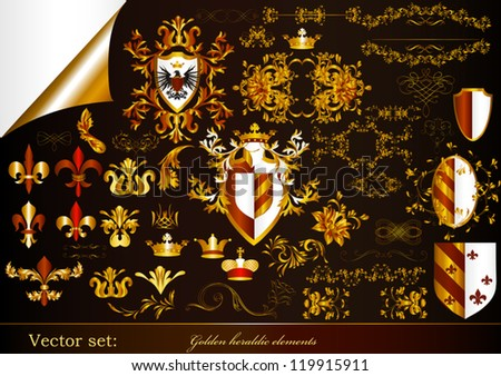 Luxury heraldic elements for design - stock vector