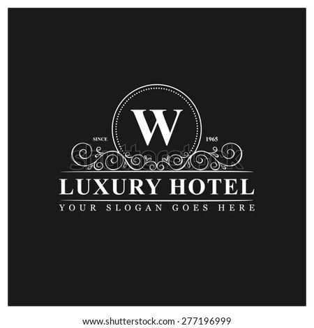 Elegant gold letter m diamond crown stock vector 258088673 for Luxury hotel logo