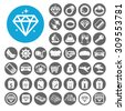 Luxury icons set. Illustration EPS10 - stock vector
