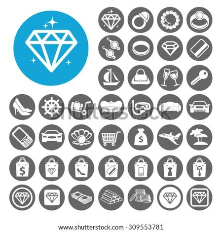 Luxury icons set. Illustration EPS10 - stock vector