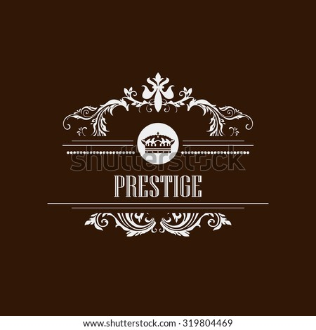 Luxury logo template floral calligraphic elegant prestige ornament art - stock vector