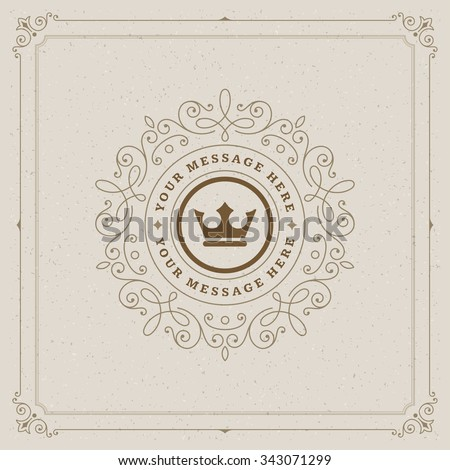 Luxury Logo template flourishes calligraphic elegant ornament lines. Business sign, identity for Restaurant, Royalty, Boutique, Cafe, Hotel, Heraldic, Jewelry, Fashion and other vector illustration - stock vector