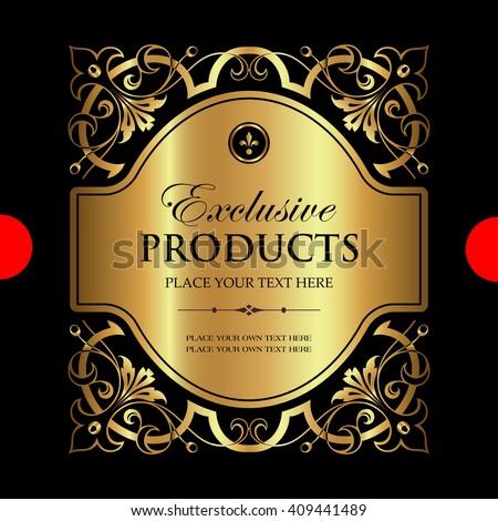 Luxury ornamental label - stock vector