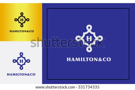 luxury premium design initial logo vector for your company  - stock vector