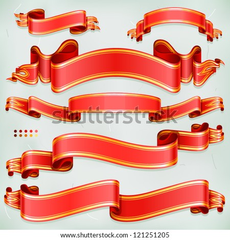 Luxury red banners - stock vector